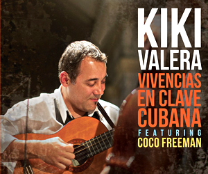 This is the debut solo album of Cuban cuatro master Kiki Valera, a member of the Familia Valera Miranda, a century-old group and one of the key purveyors of the Son Cubano. While completely dedicated to the performance of traditional Cuban music, Valera was exposed to jazz masters through cassette tapes while in school and those inspirations elevate the quality of his cuatro solos in subtle and wonderful ways. Joined here by childhood friend, renowned vocalist Coco Freeman, Valera and his exciting ensemble pair 12 original songs with beautiful instrumental work in ways that will make you dance, laugh, and possibly shed a tear.
