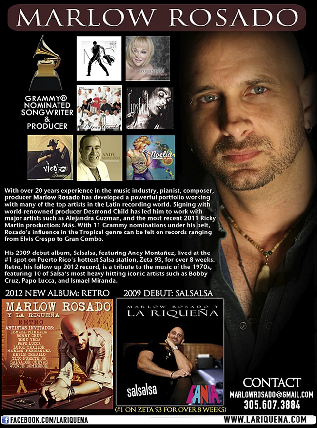 Latin pulse music artist detail for Rap artist bio template